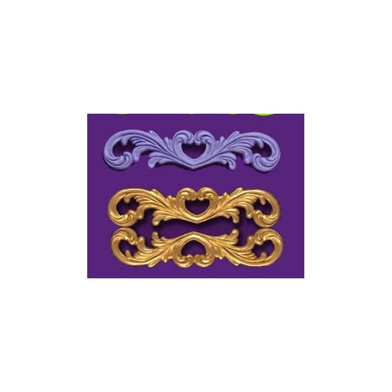 Moule en silicone grande arabesque baroque