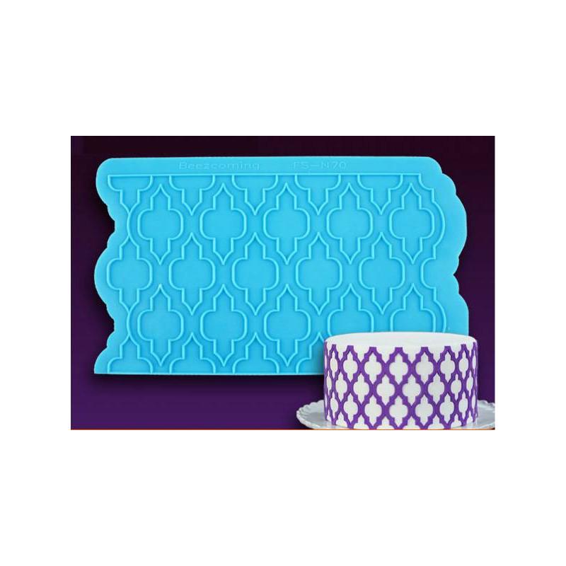 Tapis silicone pour motif oriental arabesque