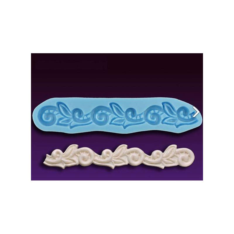 Silicone mold FLORAL BORDER