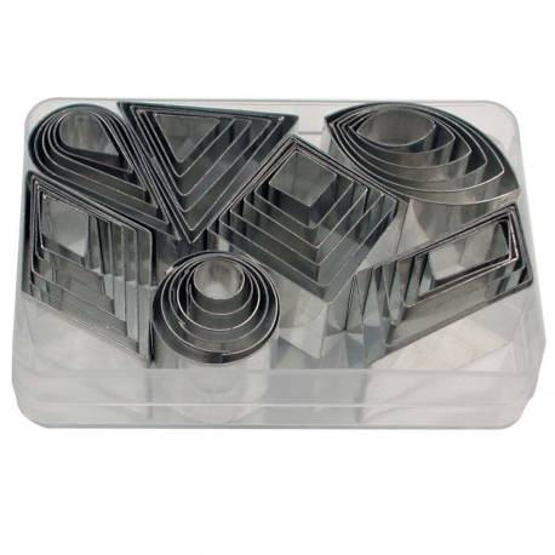 Emporte-pièces 7 formes géométrique métal - 42 pièces