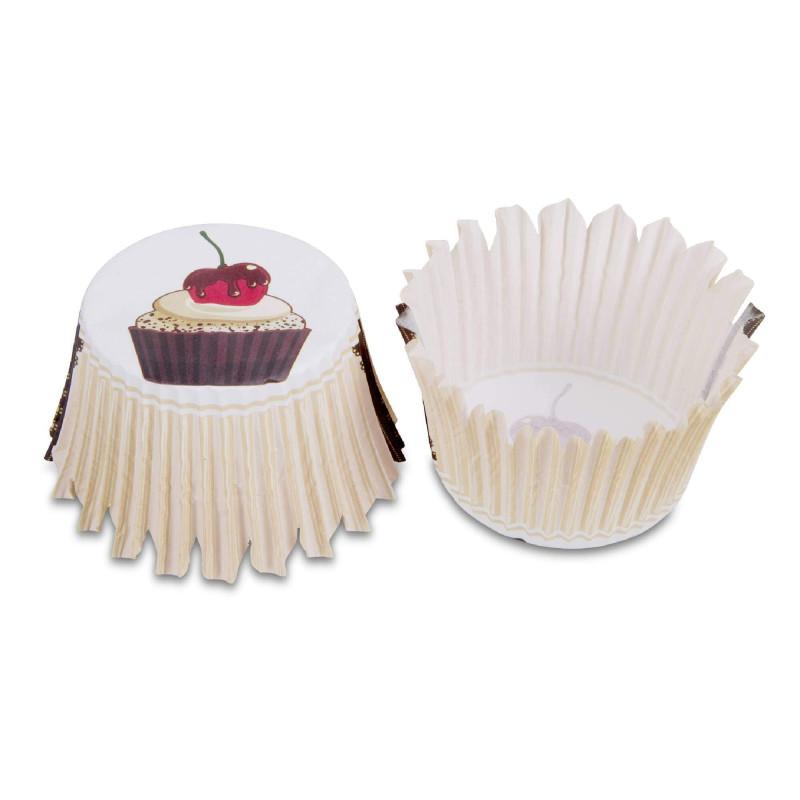 100 Cápsulas de Cupcakes - Diseño de Café Gourmet