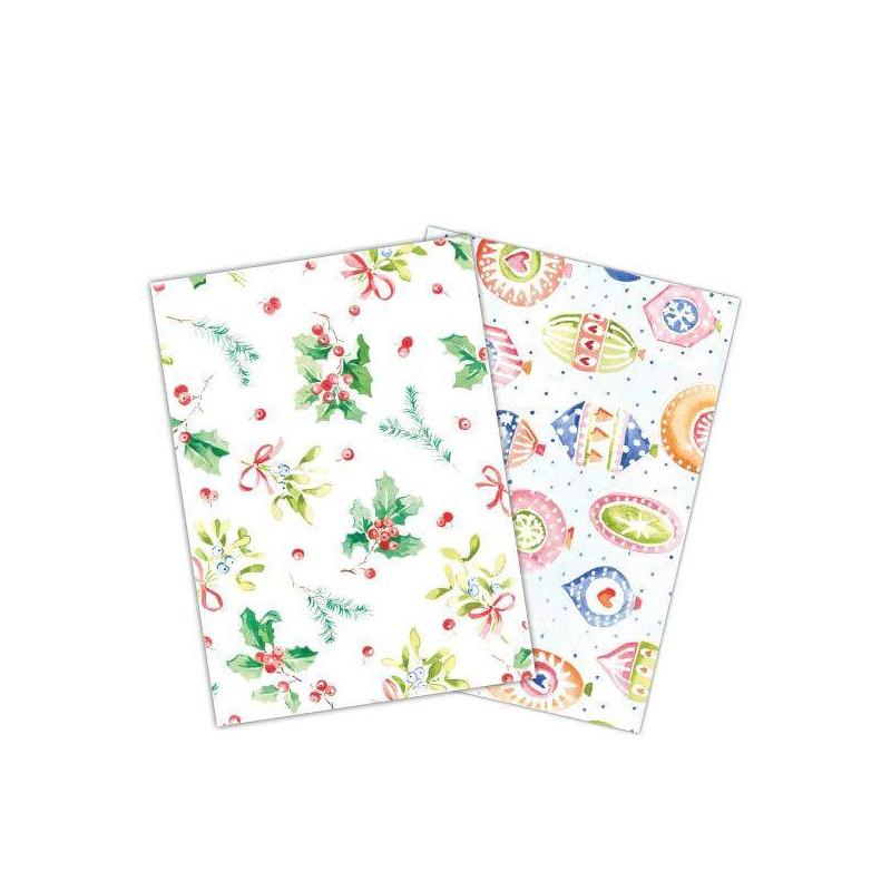 Wafer Paper Noël Boules & Houx