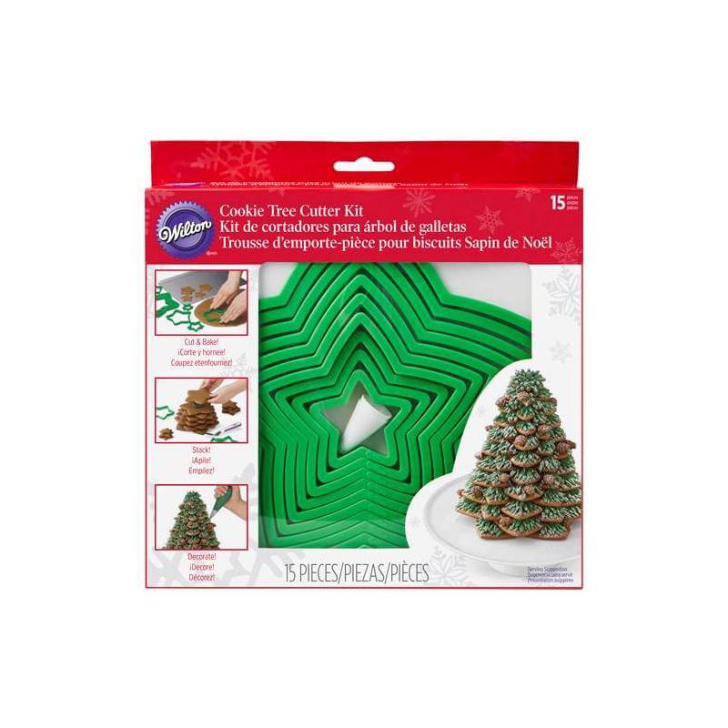 Kit découpoir Sapin de Noel 3D en Biscuit