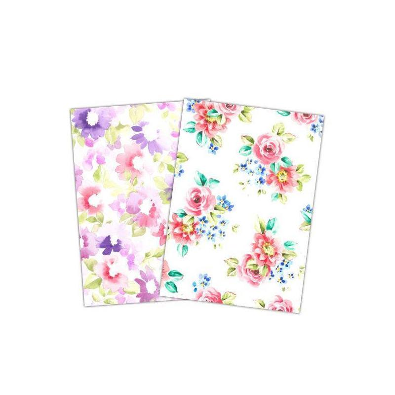 Wafer Paper imprimé déco Grandes fleurs