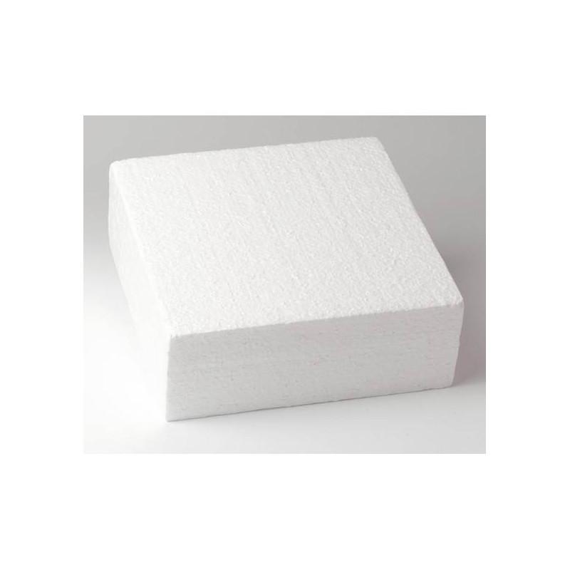 Pastel de poliestireno DUMMY cadrado 20cm, altura 5cm