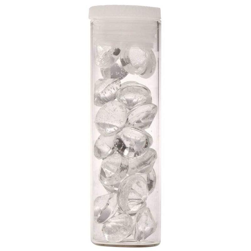 40 diamantes comestibles TRANSPARENTES de 6mm