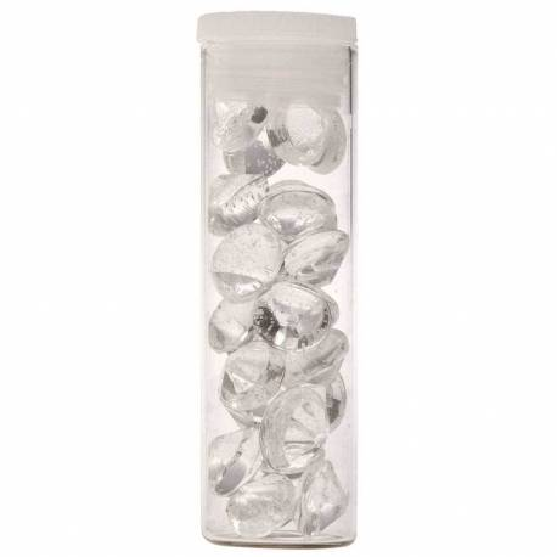 25 diamantes comestibles TRANSPARENTES de 10mm