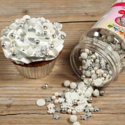 Confeti Sprinkles NOEL Flocons étoiles y perlas de azúcar