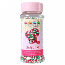 Micro balls in sugar in the colors of Christmas