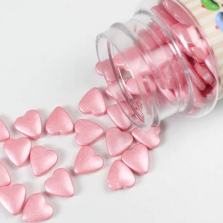 Fun cakes 80 g sugar hearts pink