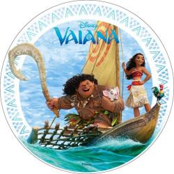 Disque Azyme Vaïana et Maui sur pirogue