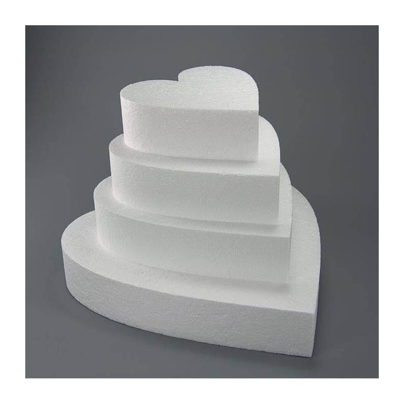 DUMMY cake COEUR 15 cm sur 7.5 cm hauteur