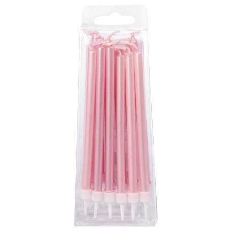 12 Pearly Pink Candles