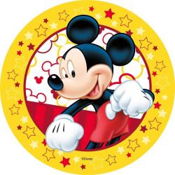Disque Azyme Mickey contour jaune