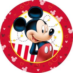 Disque Azyme Mickey et contour rouge