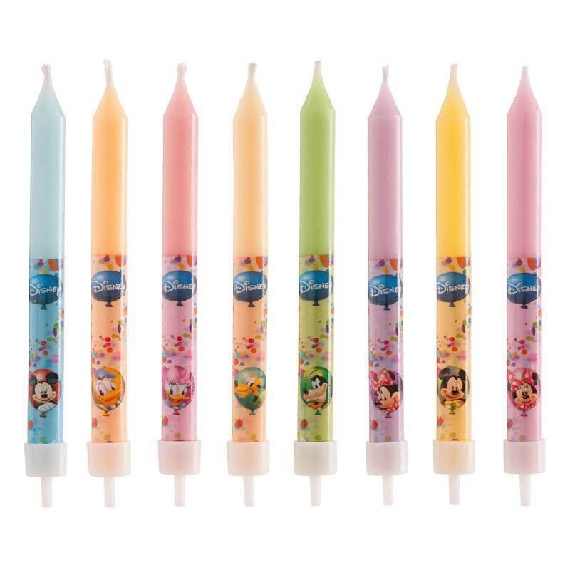 8 velas Disney Mickey y sus amigos