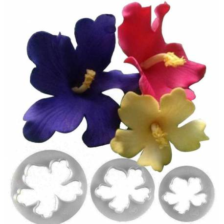 Hawaiian Flower Hibiscus 3 cutters FMM