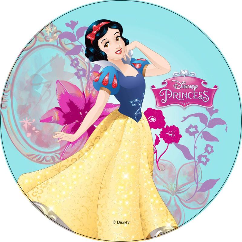 Disque Azyme Princesse BLANCHE NEIGE fond bleu