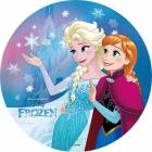 Edible wafer disc FROZEN - Elsa and Anna complicit