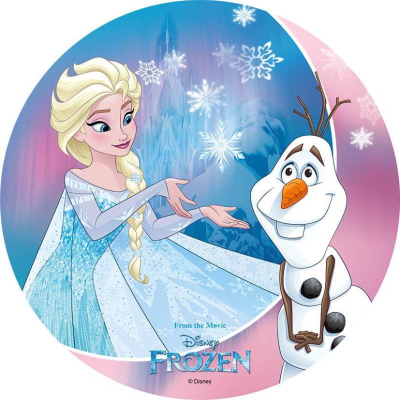 Disque azyme La Reine des Neiges - Elsa et Olaf