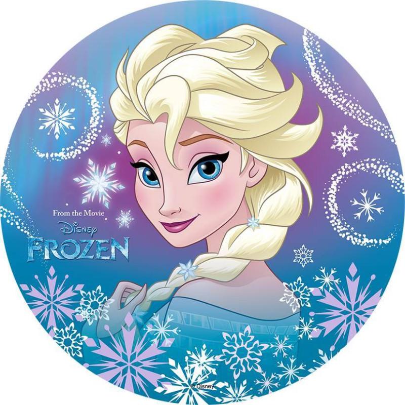 Disque azyme La Reine des Neiges - Elsa Visage