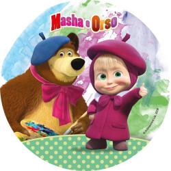 Disque azyme MISHA et l'ours MICHKA - nappe rose
