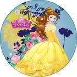 Disque Azyme Princesse BELLE fond jaune et bleu