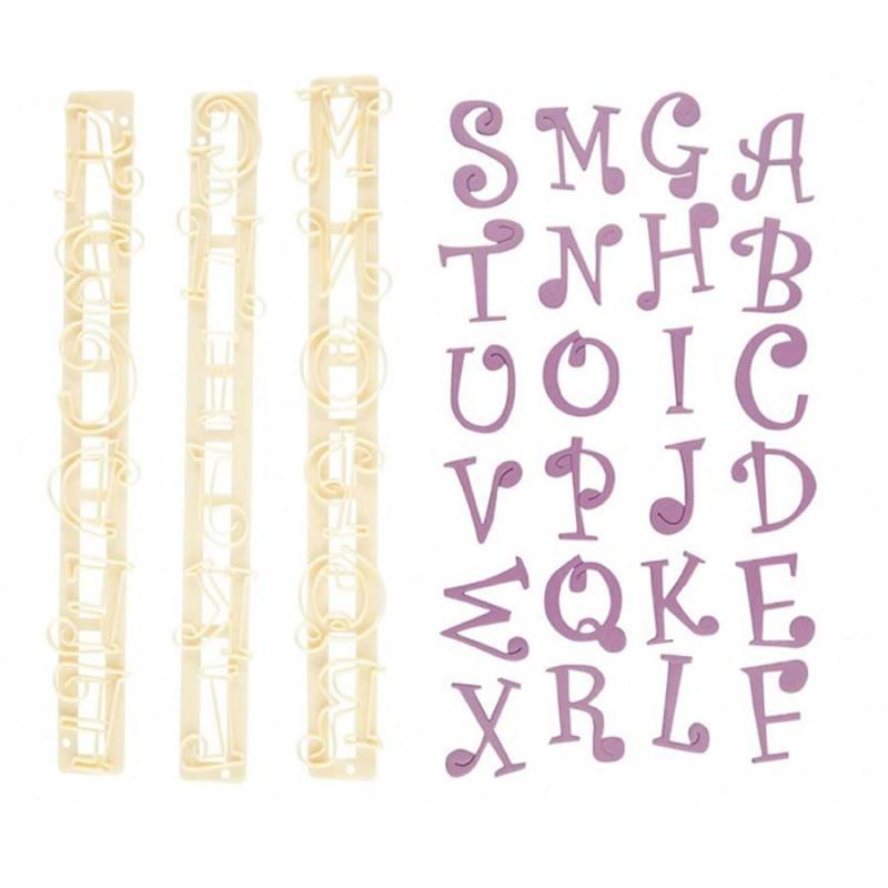 Découpoir FMM alphabet majuscule et chiffre funky