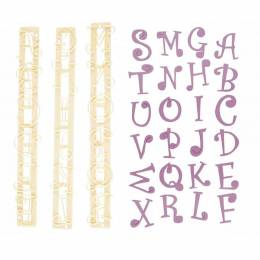 Frieze FMM alphabet uppercase and funky figure