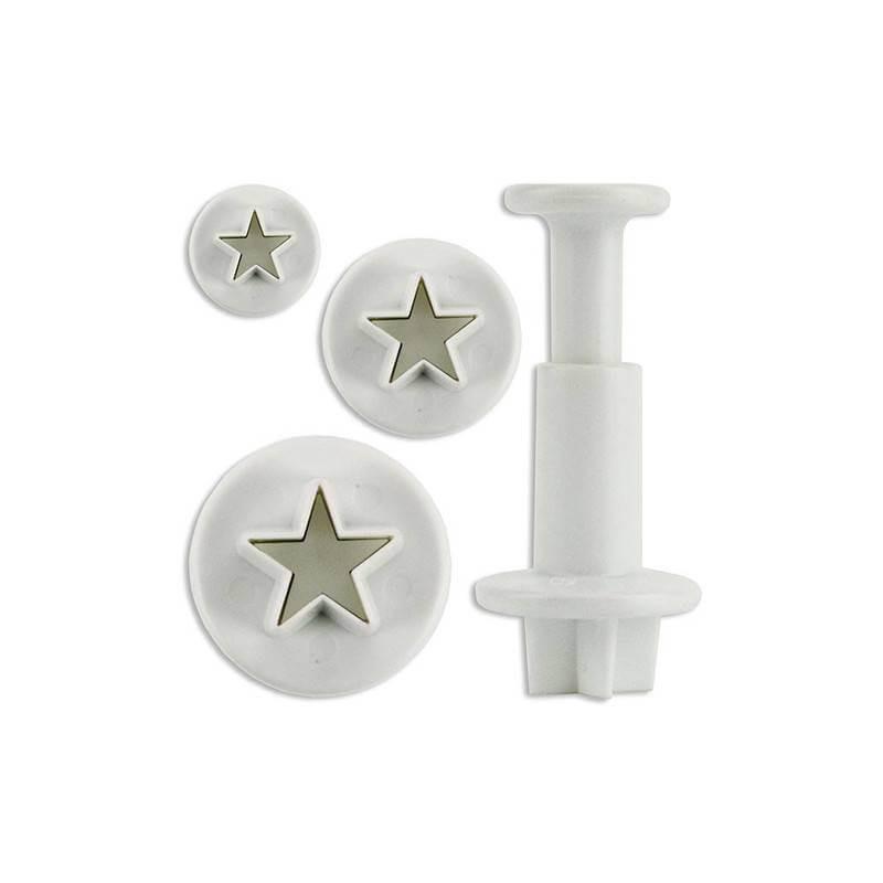 Set de 3 cortadores de piezas mini star