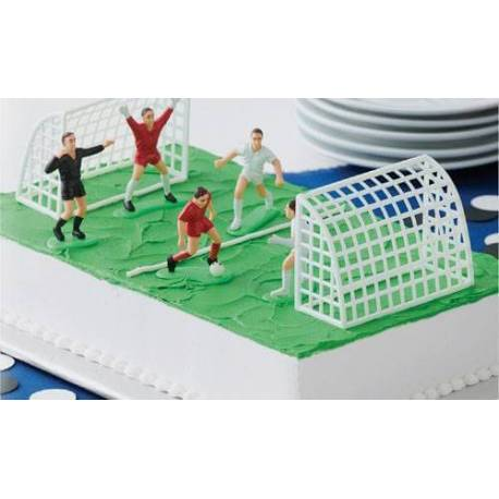 Set of 5 Players and 2 Football Cages