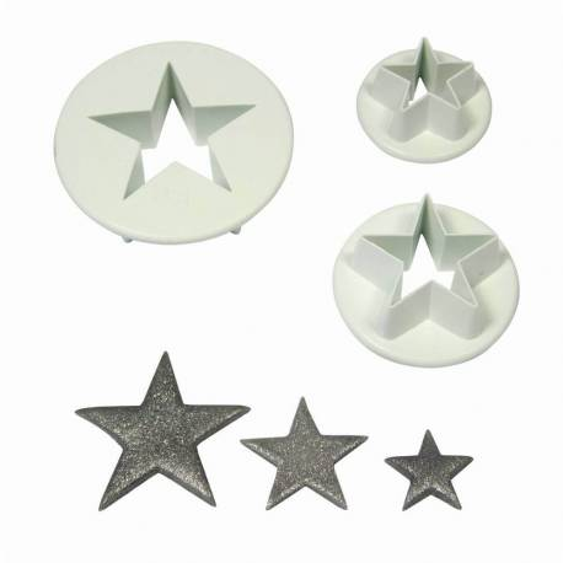 Emporte-pièces étoile pointue - 3 tailles