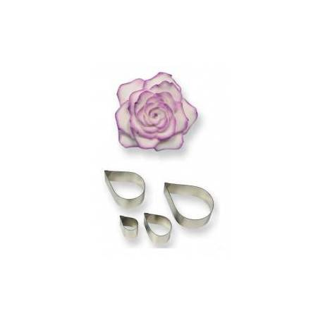 4 metal cutters Rose Petals PME