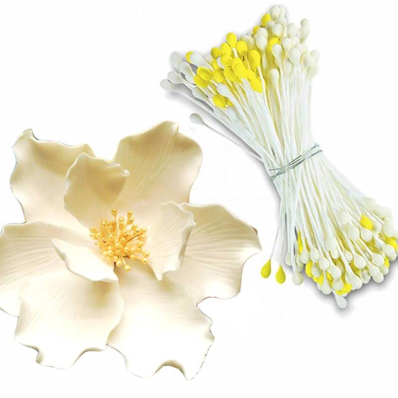 Lote 114 pistilos para flores de azúcar