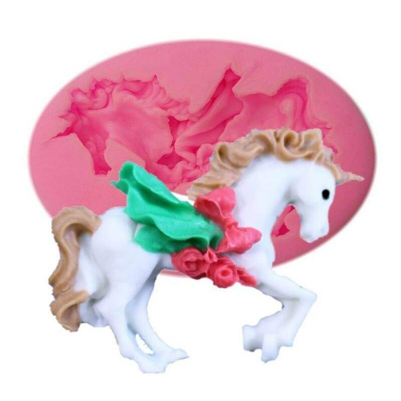 Molde de unicornio o carrusel de silicona