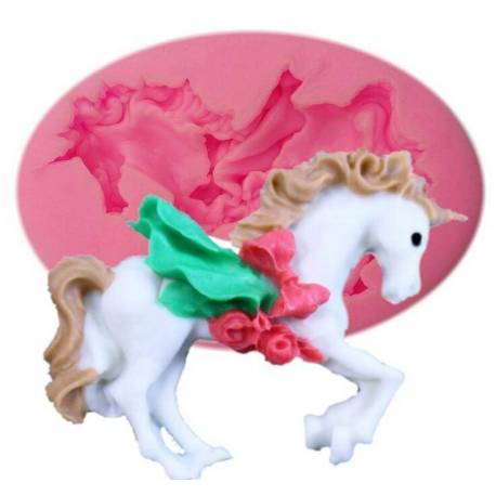 Silicone Unicorn or Carousel Horse mold