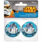60 Mini Caissettes Cupcakes R2D2 Star Wars