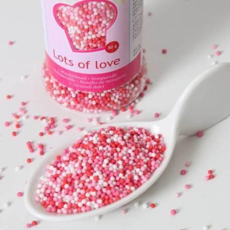 Micro billes en sucre 3 couleurs AMOUR - 80g