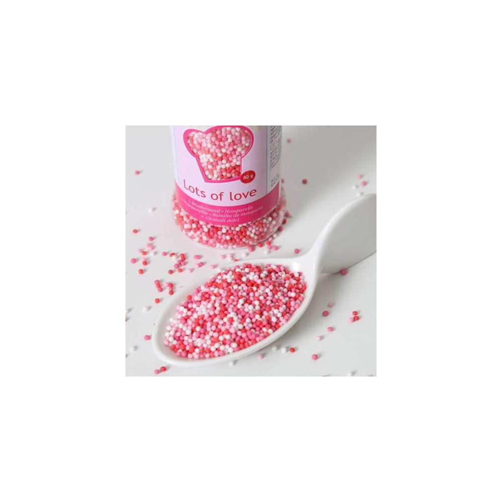 Micro Billes En Sucre 3 Couleurs Amour 80g Cake Design Et Patisserie