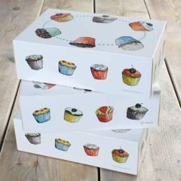 3 Boîtes de Cupcakes décors GOURMANDISE