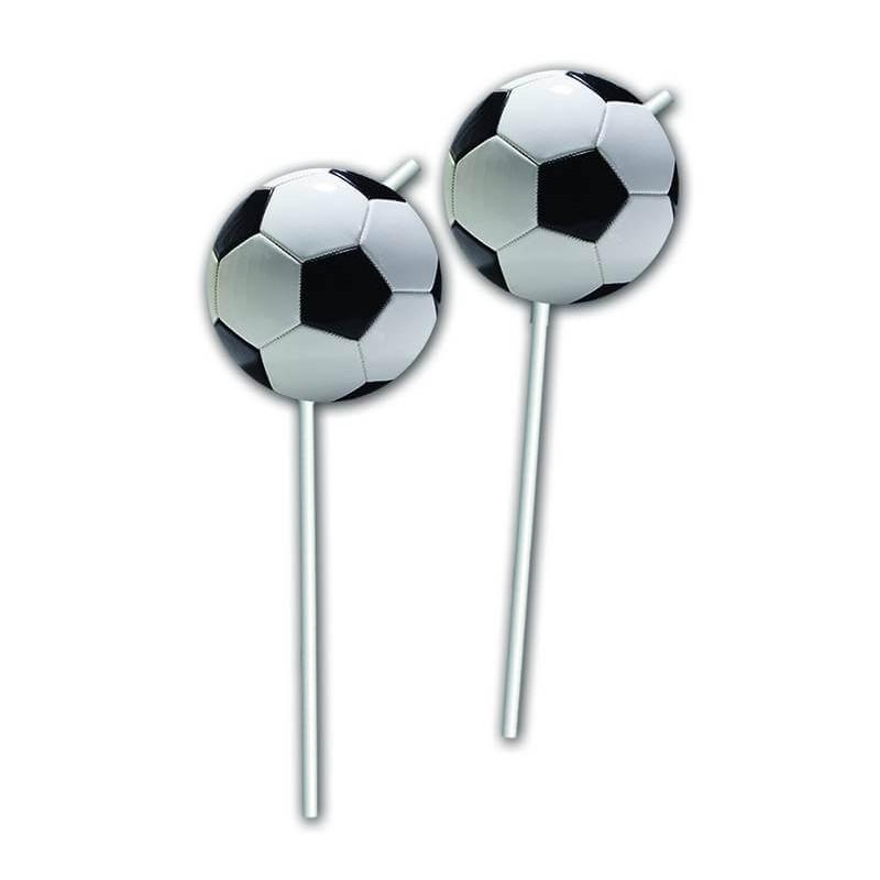 6 FOOTBALL straws