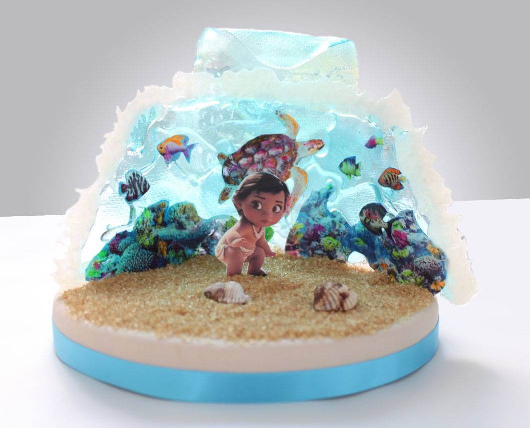 Terrific Edible Printing Exotic Fish And Aquarium Planete Gateau Cake Funny Birthday Cards Online Necthendildamsfinfo