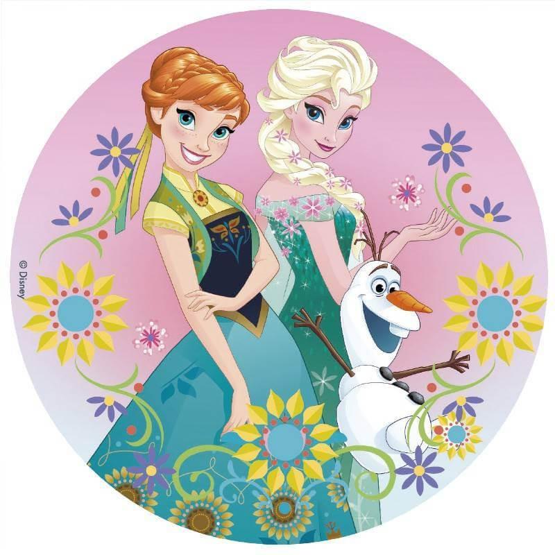 Disco de azúcar FROZEN - Elsa, Anna y Olaf