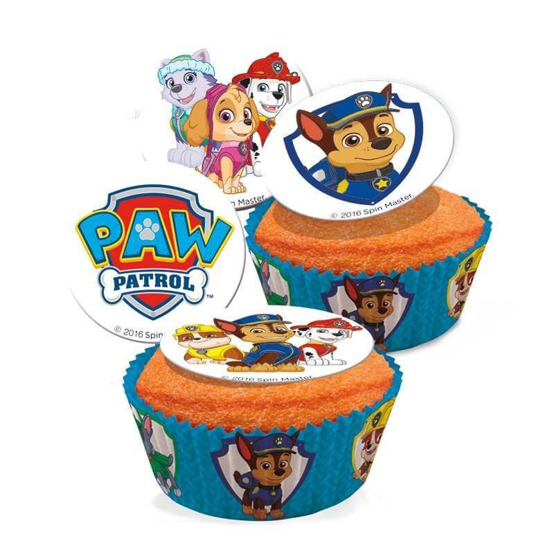 16 Mini Sugar Discs Paw Patrol