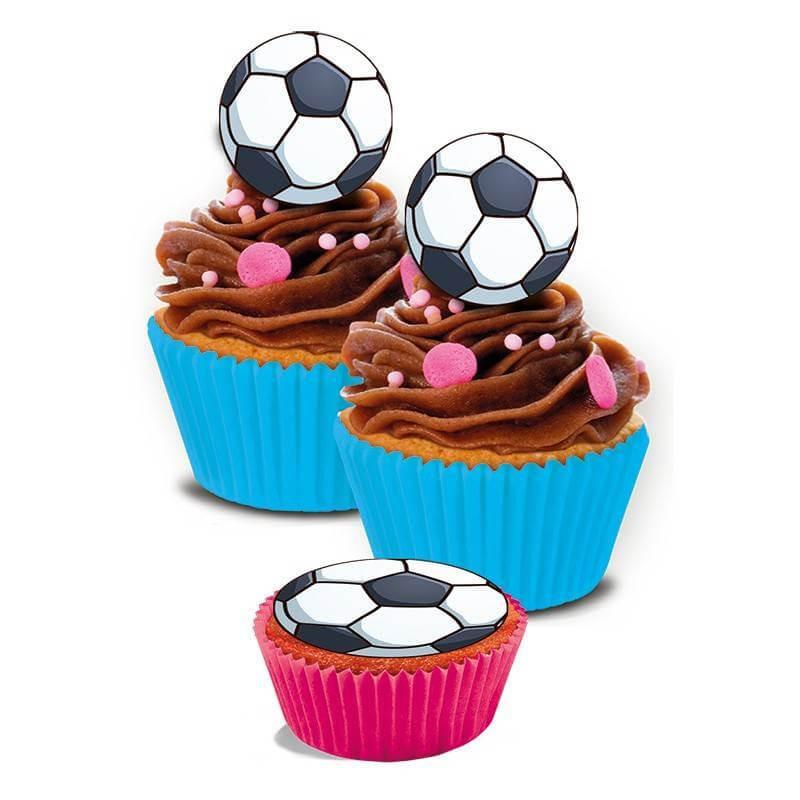 16 Mini Disques en sucre Ballon de Football