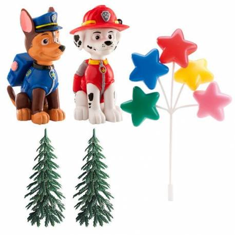PAW PATROL Decoration Kit - Chase and Marshall