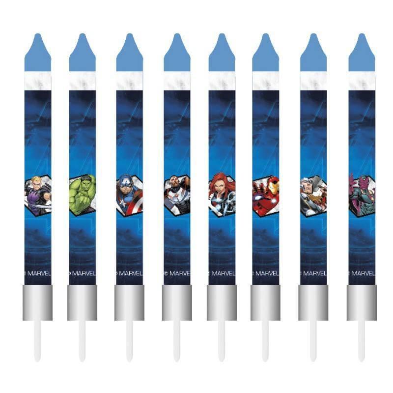 8 velas de cumpleaños Los Vengadores