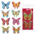 8 Papillons en Azyme Coloris Assortis