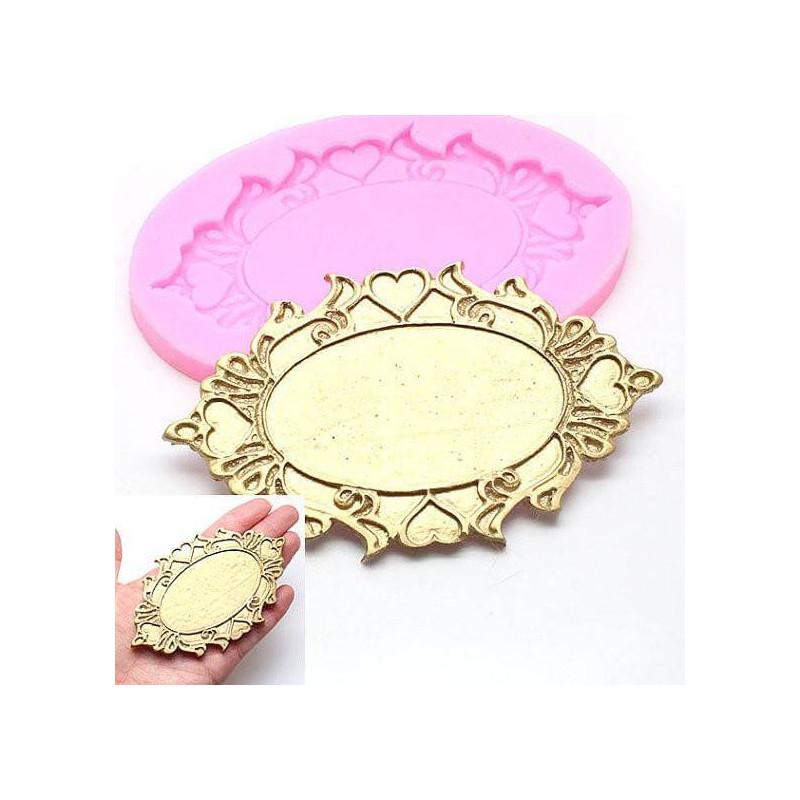 Placa de marco de molde de silicona con corazones