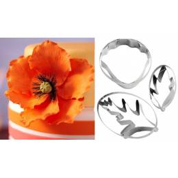 Cutters for poppy flowers